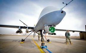 Drone Reaper du 39 Squadron Royal Air Force à Kandahar